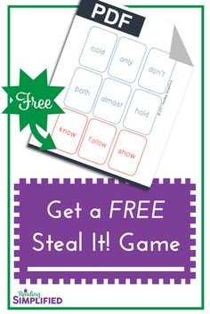 Snag a free game that teaches sight words AND phonics--simultaneously. Also, discover we shouldn't push sight words before our students have a sound-symbol approach to decoding. Instead, give them a strong decoding foundation Reading Fluency, Reading Strategies, Reading Aloud, Reading Games, Reading Intervention, Sight Word Games, Sight Words, Kindergarten Freebies, Kindergarten Reading
