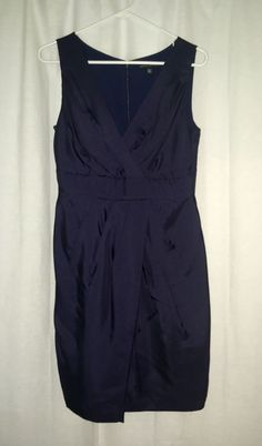 871a9fe44be Banana Republic Women s Navy Blue Silk Cocktail Dress Size 4 Petite  fashion   clothing