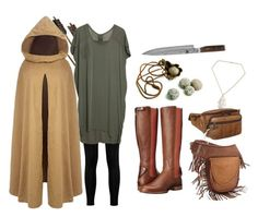 """""""Maddie from Rangers Apprentice"""" by baileyem-1 on Polyvore featuring Ariat, Boohoo, Shun, NOVICA, SHARO and AmeriLeather"""