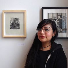Artist Spotlight: Ariana Prado prints a linocut of her abuelo (grandfather) - linocut - wall art and home decor