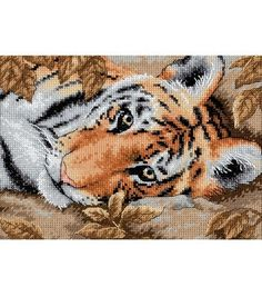 Petite Beguiling Tiger Counted Cross Stitch