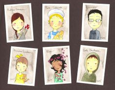 I'm totally into The Hunger Games series right now. This is a pretty cute illustration of some of the characters from the books.