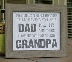 Fathers Day gifts, Papa, Poppa, Grandpa, Dad, Father, rustic via Etsy by lea