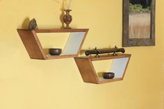 Floating Shelf  Modern Shelf  Geometric Shelf  by HaaseHandcraft, $75.00