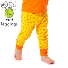 Pdf download for baby and toddler size leggings pattern with a cuff ankle, the fit is great and easy instructions! You will need: -Knit fabric,