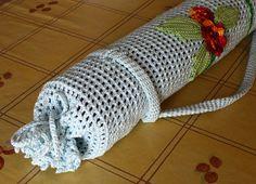 Finished Irish Crochet Yoga Mat Bag  Another fine idea for Irish Crochet ~!~