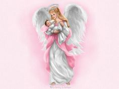 Angel with Baby by Penny Parker