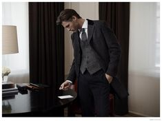 Ben Hill Dons Smart Fall/Winter 2014 Mens Fashions for Marks & Spencer