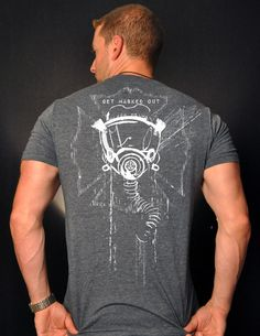 Get Masked Out Fire T-Shirt (Heather Indigo) - Black Helmet Firefighter Shirts, Hats, Decals and Accessories