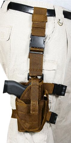 Rothco Deluxe Adjustable Universal Drop Leg Tactical Holster - Black or Brown