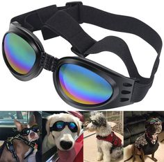 60d5715bd135 Dog Sunglasses Eye Wear Protection Waterproof Pet Goggles