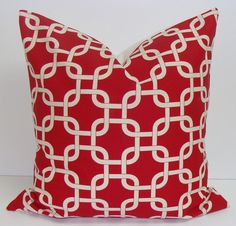 Pillow... red and white