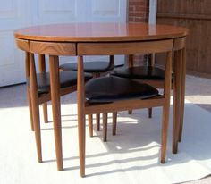 Hans Olsen Frem Rojle Teak Dining Set with Extending Table