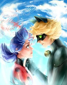 Hello everyone Here are our two little dorks Ladybug and Chat Noir I did my best and I hope you like it and I can't wait to hear your . Ladybug E Catnoir, Ladybug Und Cat Noir, Ladybug Comics, Lady Bug, Miraculous Ladybug Wallpaper, Miraculous Ladybug Fan Art, Cat Noir Cosplay, Marinette Et Adrien, Foto Gif