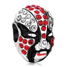 SALE European Charm Bead Mask Red Black by SugarPieDesignsByKK, $2.50