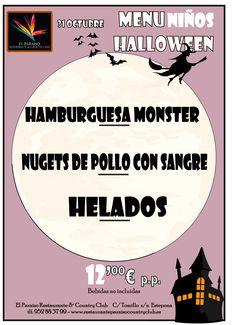 Halloween en Marbella Halloween en Estepona Menu Cena de Halloween 2013 niños esp Cena y Fiesta de Halloween en Estepona   San Pedro Alcánta...