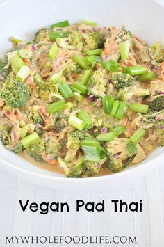 Vegan Pad Thai. This super easy recipe is low carb, gluten free and grain free. Yummy!