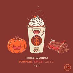 Pumpkin spice latte ~ Mochichito illustration