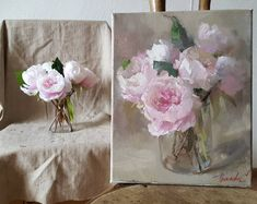 41 ideas for flowers painting oil rose artists Drawing Artist, Artist Painting, Art Floral, Oil Painting Flowers, Drawing Flowers, Rose Paintings, Flower Arrangements Simple, Illustration Blume, Acrylic Flowers