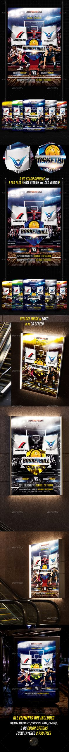 Basketball Madness  — PSD Template #sport logo mockup #tournament #usa #4x6…