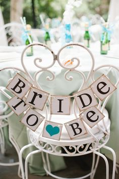 Every bride to be needs a special chair