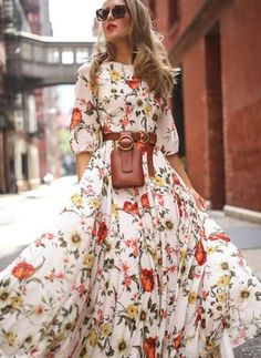 Boho Ärmel Blumen Maxi Kleider Best Picture For Womens Summer Outfit with jeans For Your Taste You are looking for something, and it is going to tell you exactly what you are looking Maxi Dress With Sleeves, Half Sleeves, Dress Skirt, Dress Up, Floral Maxi Dress, Swing Dress, Dress Long, Long Floral Dresses, Long Sleeve Maxi
