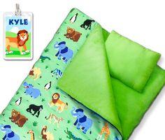 Kids Wild Animals sleeping bag by Olive Kids!