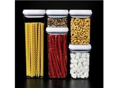 5-pc. Good Grips POP Container Set by OXO by OXO at Cooking.com  Need a closet full of these sets to organize the pantry. !