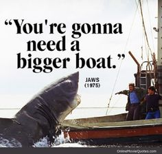 boating quotes and sayings | Quote from the 3 time Oscar winner Jaws (1975)