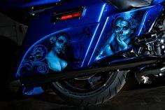 Blue custom paint Saddlebag