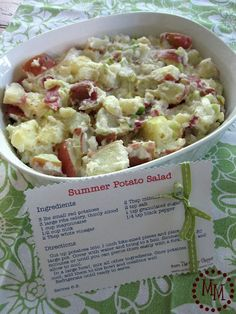 Yummy summer potato salad -> no eggs!