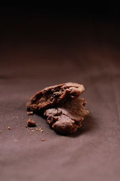 chocolate cookies with cacao nibs
