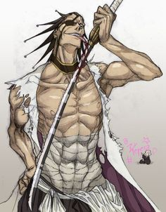 Zaraki Kenpachi - character from Bleach anime series.