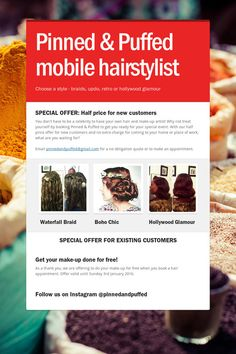 Pinned & Puffed mobile hairstylist