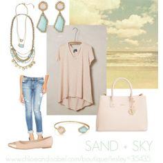 """""""SAND + SKY"""" by lesleysmith614 on Polyvore  www.chloeandisabel.com/boutique/Lesley#35435"""