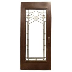Frank Lloyd Wright Door from the Bradley House in Kankakee, IL, 1900 | From a unique collection of antique and modern historical memorabilia at https://www.1stdibs.com/furniture/more-furniture-collectibles/historical-memorabilia/