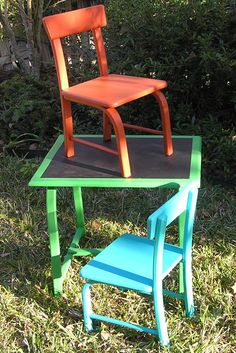 Maison Blanche Cayenne, St Anne & Collette chalk painted child's table & chair set