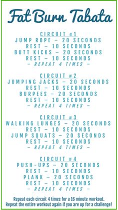 Fat Burning Tabata Workout - Lose Belly Fat in a Week Cardio Fitness Workouts, Gewichtsverlust Motivation, Fitness Logo, Fitness Diet, Health Fitness, Cardio Hitt Workout, Leg Workouts, Tabata Workouts Crossfit, 30 Minute Hiit Workout
