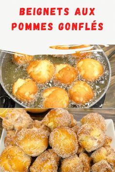 Comment préparer des beignets aux pommes gonflés en quelques minutes. Parfumés, moelleux et gonflés avec des morceaux de pommes dans la pâte qui rendent ces beignets pleins de saveur ! Saveur, Biscuits, Crepes, Macarons, Deserts, Muffin, Brunch, Bread, Breakfast