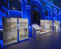 Create a temporary exhibition with D4's in upmarket event spaces. Portman Estate graphics for annual drinks reception.
