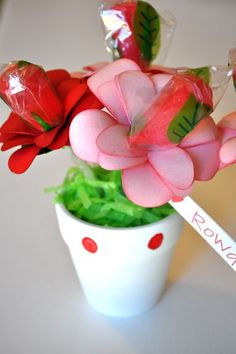 Social Salutations: Day 25 - Paper Flower Pot Valentines and a Bride!