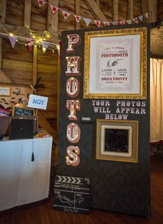 A vintage-style, hand made photobooth at my wedding.