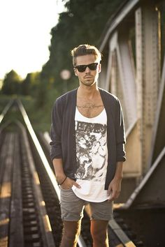 Tanks and cardigans are a good way to try and hold on to what's left of your summer wardrobe.
