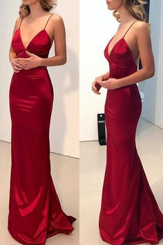 Prom Dress Princess, Simple Backless Dark Red Mermaid Long Evening Prom Dresses Shop ball gown prom dresses and gowns and become a princess on prom night. prom ball gowns in every size, from juniors to plus size. Backless Prom Dresses, Cheap Prom Dresses, Prom Party Dresses, Satin Dresses, Homecoming Dresses, Sexy Dresses, Evening Dresses, Red Satin Prom Dress, Red V Neck Dress