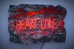 Visual-Poetry — »heart core« by olivia steele (+)