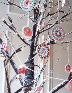 love these crocheted ornaments