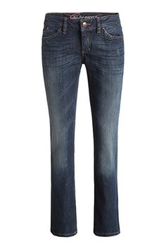 Espirit - Garment washed stretch jeans. Low rise