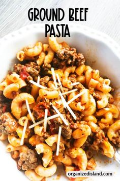 This easy Ground Beef Pasta dinner is one of those easy comfort meals you can make on your stovetop. Made with fresh vegetables, ground beef and noodles, it is economical too! Yummy Pasta Recipes, Easy Dinner Recipes, Noodle Recipes, Simple Recipes, Amazing Recipes, Vegan Recipes, Pasta Dishes, Food Dishes, Ground Beef Pasta