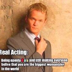 Neil Patrick Harris :). This really is how amazing of an actor he is.