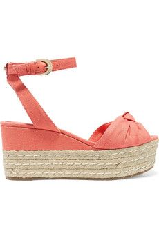 Maxwell canvas espadrille wedge sandals
